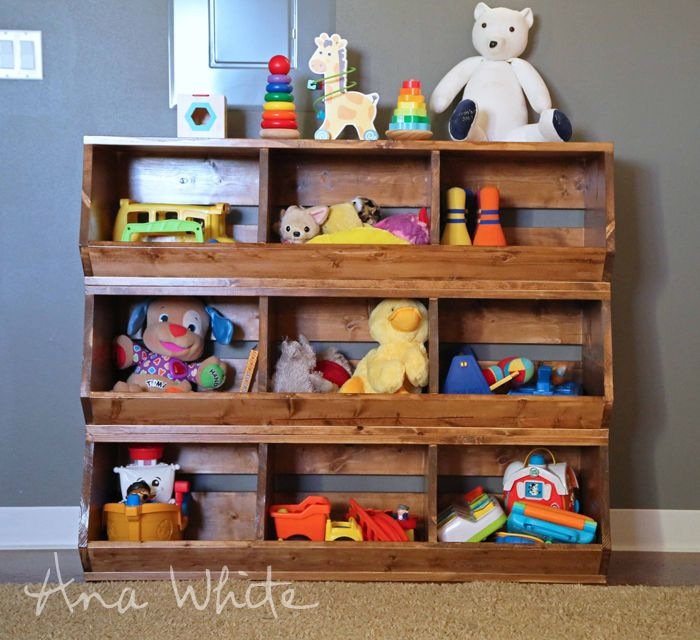 Build A 1x12 Wood Bulk Bins Free And Easy Diy Project And Furniture Plans Diy Toy Storage Toy Storage Solutions Toy Rooms