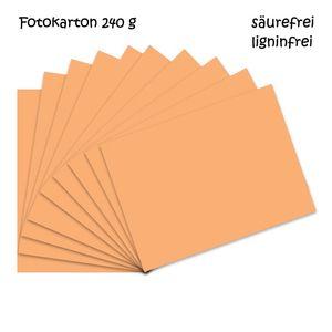 Fotokarton melon A4 - 10 Bogen - 240g