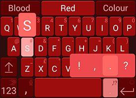 Nickel Blood Red #swiftkey #android #nickelpack | SwiftKey