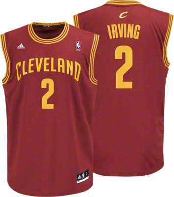 Cleveland Cavaliers Kyrie Irving 2 Red Authentic Jersey Sale. NBA Adidas  Cleveland Cavaliers Kyrie Irving Revolution 30 Replica Youth Jersey Large ( Size ... 1b44d5229