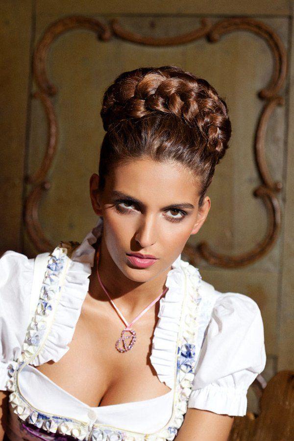 flechtknoten | dirndl frisuren, frisuren und geflochtene haare