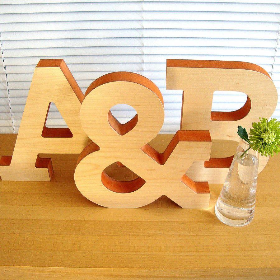 Large Decorative Wooden Letter Sculpture | Pinterest | Decorative ...