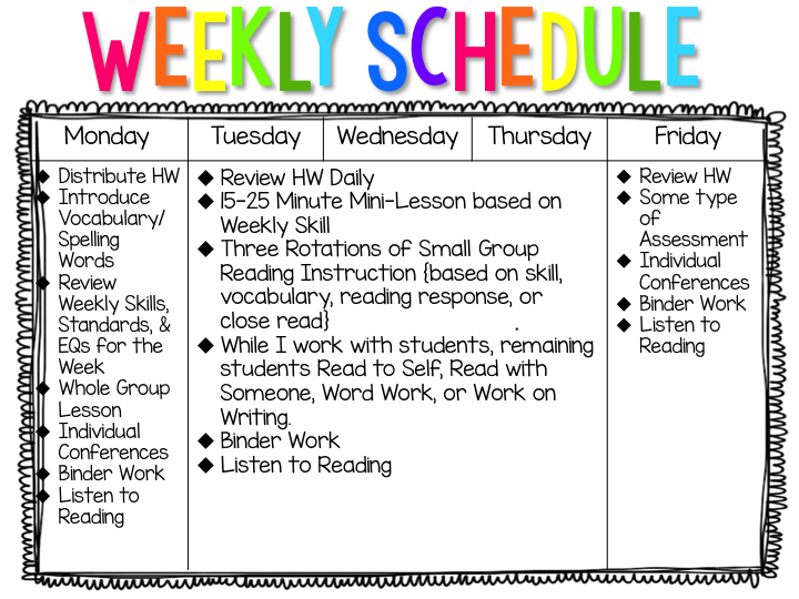 Literacy Coach Daily Schedule – September printable calendars