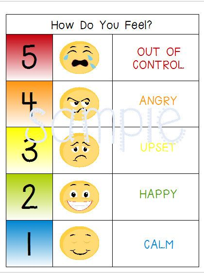 Emotions Feelings Chart Special Needs Autism Speech Delay Behavior