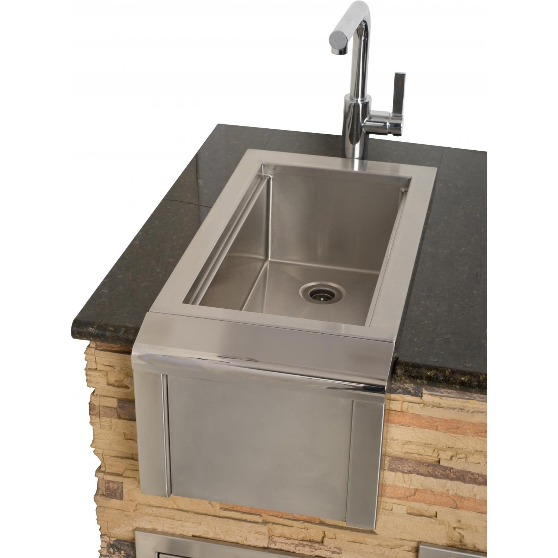 Alfresco 14 Inch Outdoor Rated Versa Bartender Sink System Agbc 14 Outdoor Kitchen Bars Outdoor Kitchen Sink Outdoor Living Kitchen