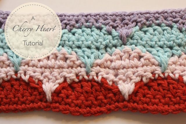 Cherry Heart Blog Clamshell Tutorial Crochet Free Pattern Baby