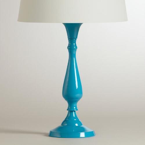 Turquoise Greta Candlestick Accent Lamp Base | World Market