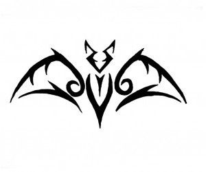 small bat tattoos free designs small tribal bat tattoo wallpaper rh pinterest com Bats and Moon Tattoos Bat Tattoo Meaning