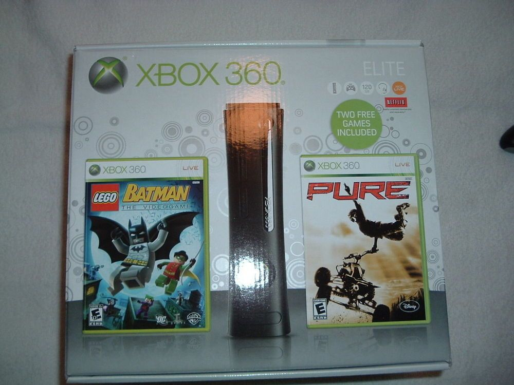 Microsoft Xbox 360 Elite gaming console with all accessories 120 gb Free Ship