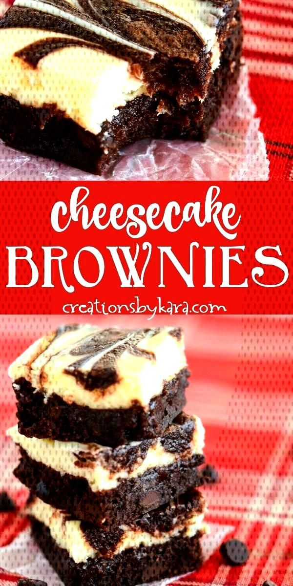 Best Cheesecake Brownies - these marbled cream cheese brownies are so decadent! A fudgy brownie top