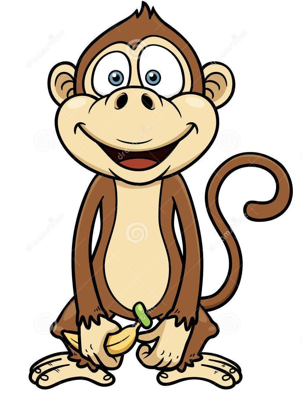 Cartoon Monkey On Banana Tattoo: - 123.3KB