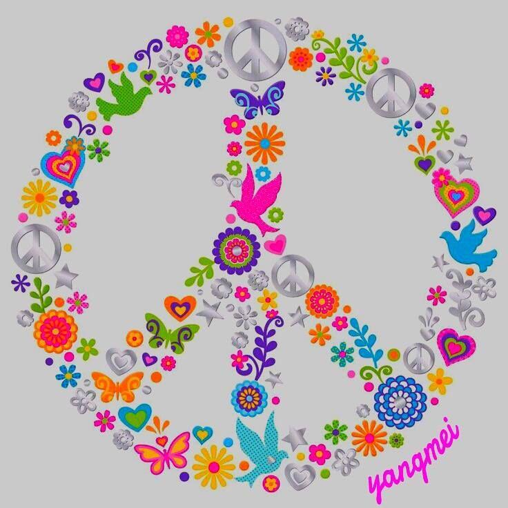 Peace Sign Art.... | Stitchin\' n bitchin\' | Pinterest