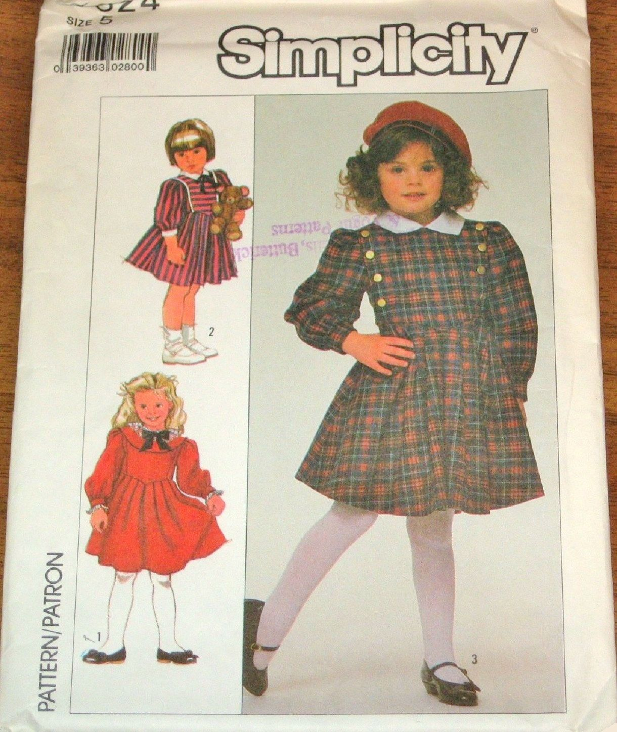 Vintage 1980s Simplicity Sewing Pattern 8324. Girls Nautical Dress ...