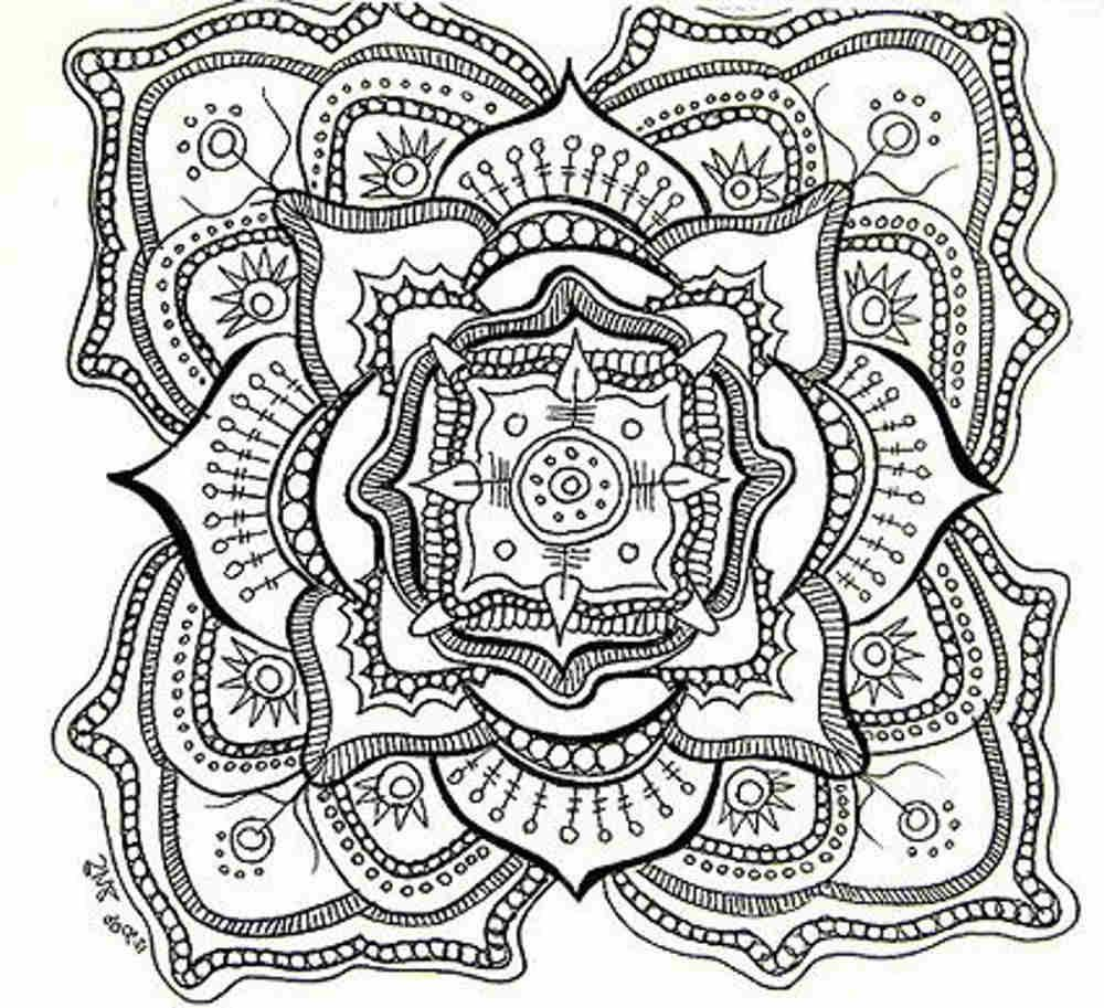 free printable mandala coloring pages for adults - Printable Abstract Coloring Pages