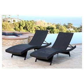 Palermo Outdoor Adjustable Wicker Chaise Set Of 2