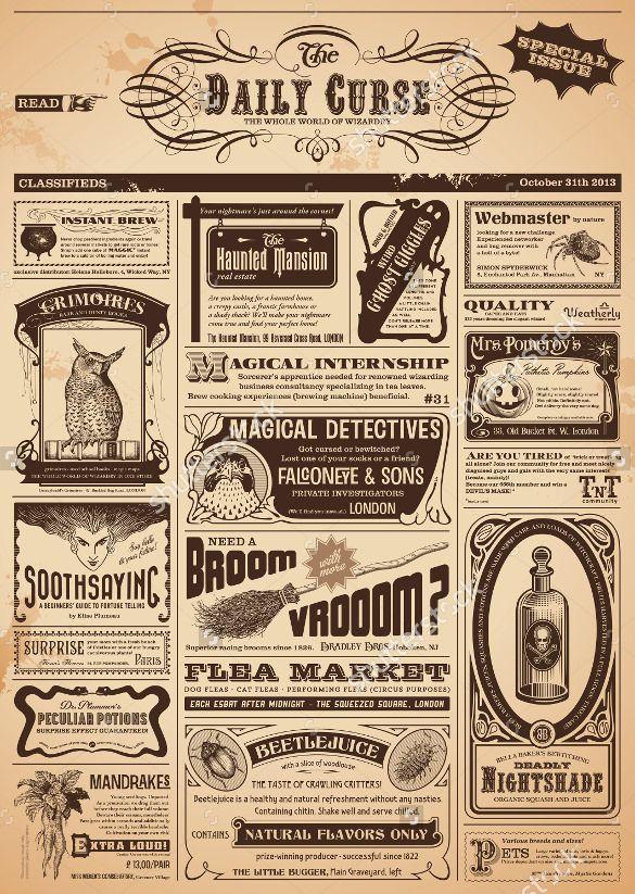Free Psd Eps Documents Download Free Premium Templates Vintage Newspaper Newspaper Template Newspaper Design