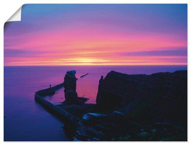 Kunstdruck Poster »Kattobello: Abend auf Helgoland« #naturallandmarks