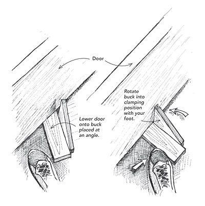 Make a Quick Door-Buck - Fine Homebuilding Tip  sc 1 st  Pinterest & Make a Quick Door-Buck - Fine Homebuilding Tip | Projects ...