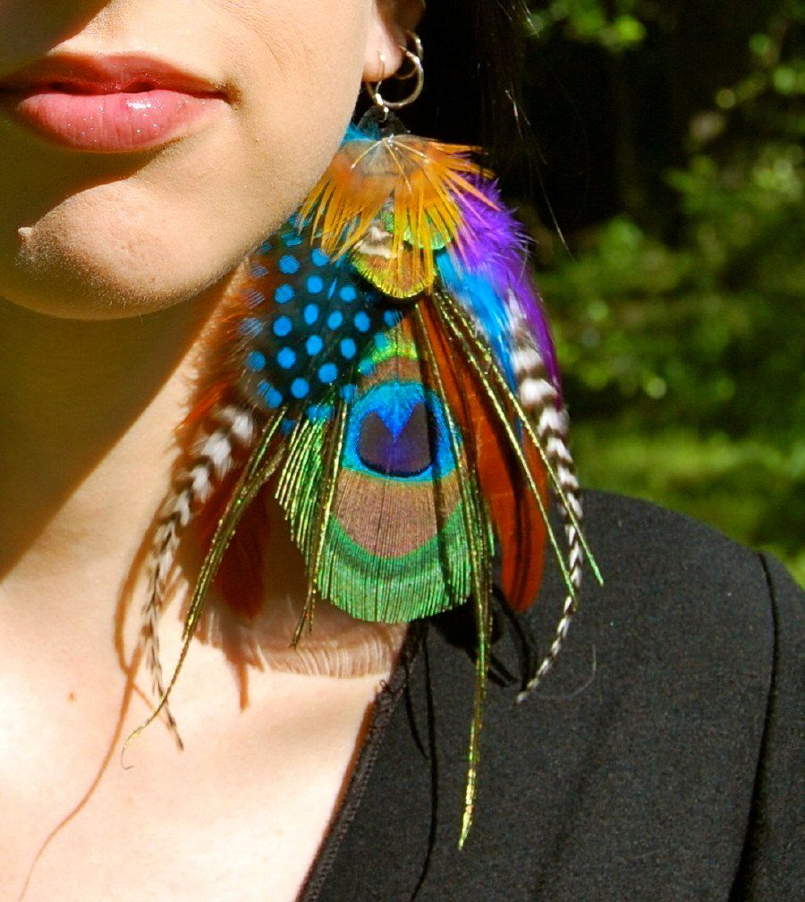 Gypsy magick peacock feather earrings magick peacock feathers gypsy magick peacock feather earrings biocorpaavc Gallery