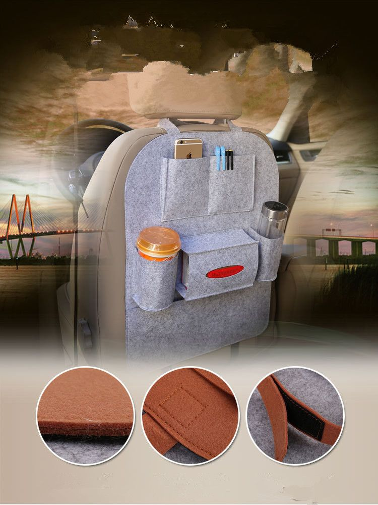 99484b94361f Car Auto Seat Back Multi-Pocket Storage Bag Holder Organizer Hanger ...