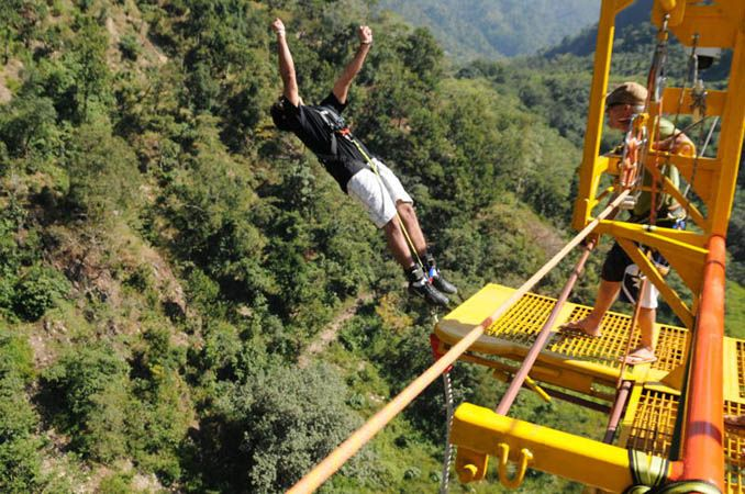 puenting en Rishikesh, salto bungy india