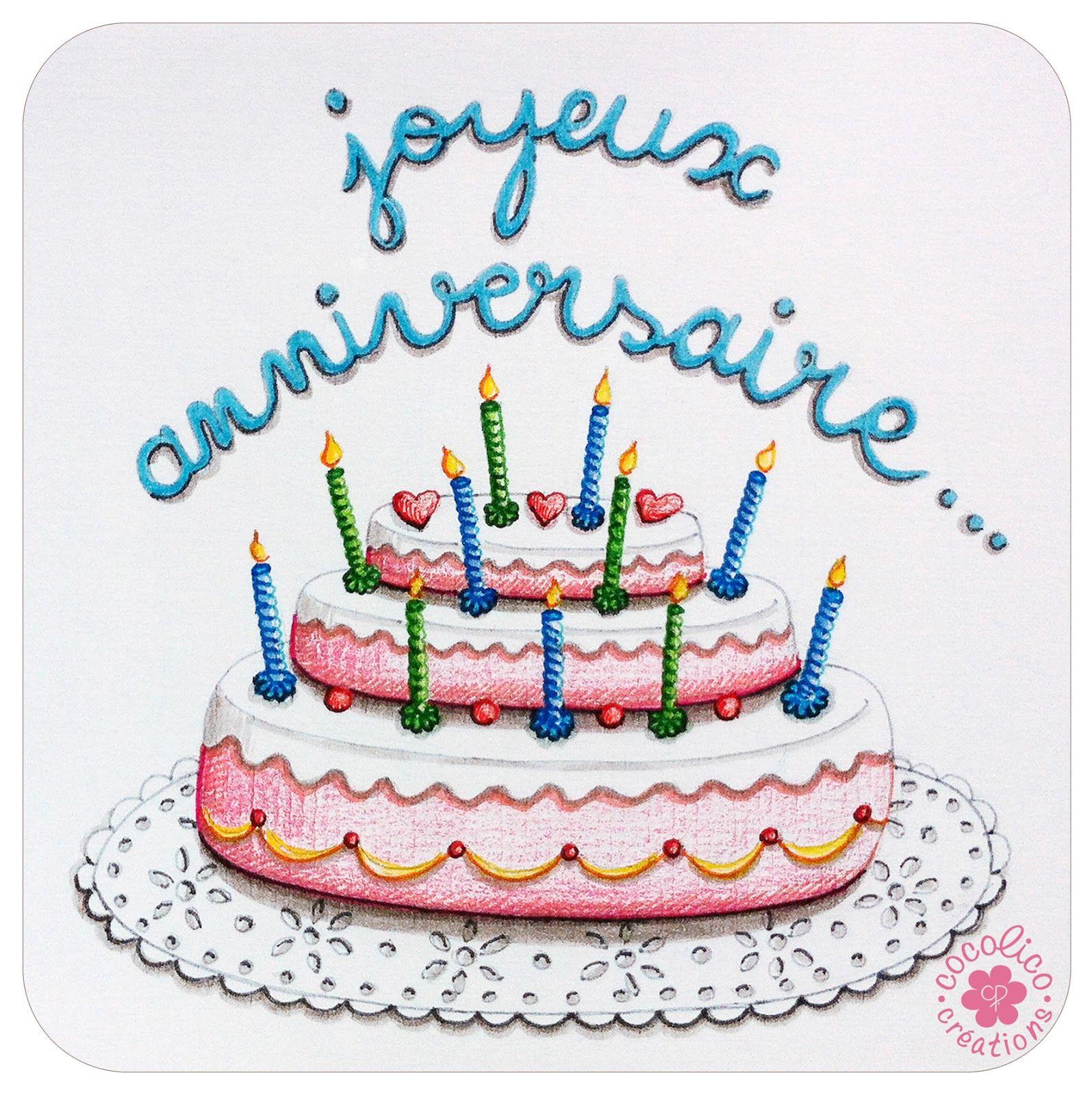 Dessin gateau anniversaire humoristique coloriage - Dessin sur gateau anniversaire ...