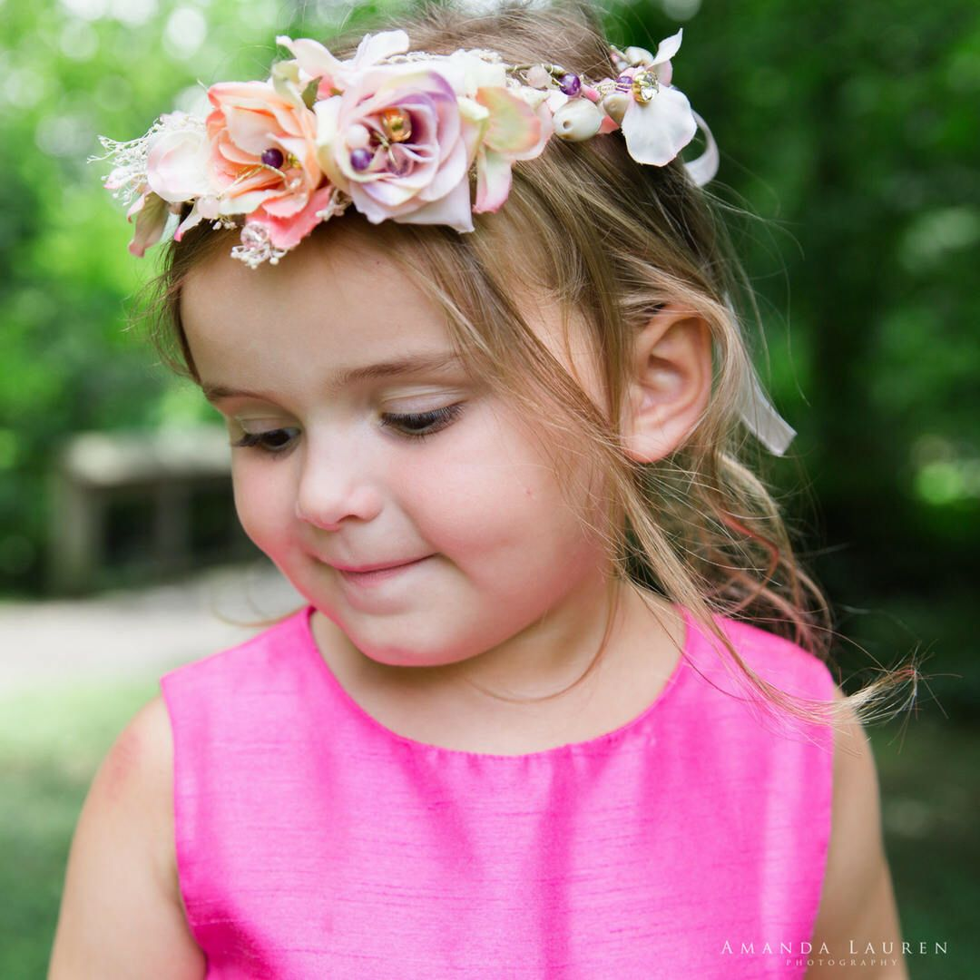 Baby Flower Crown Newborn Flower Crown Flower Girl Crown Flower