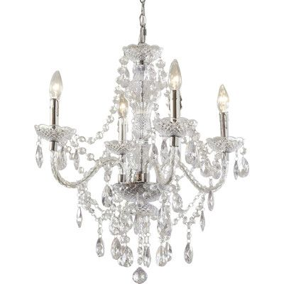 Birch Lane Kids Ice Palace 4 Light Crystal Chandelier