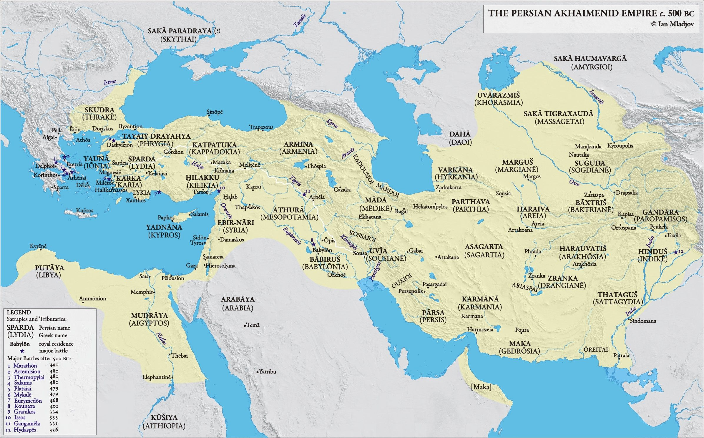 Persian Empire 500 BC | Persian empire map, Empire, Achaemenid