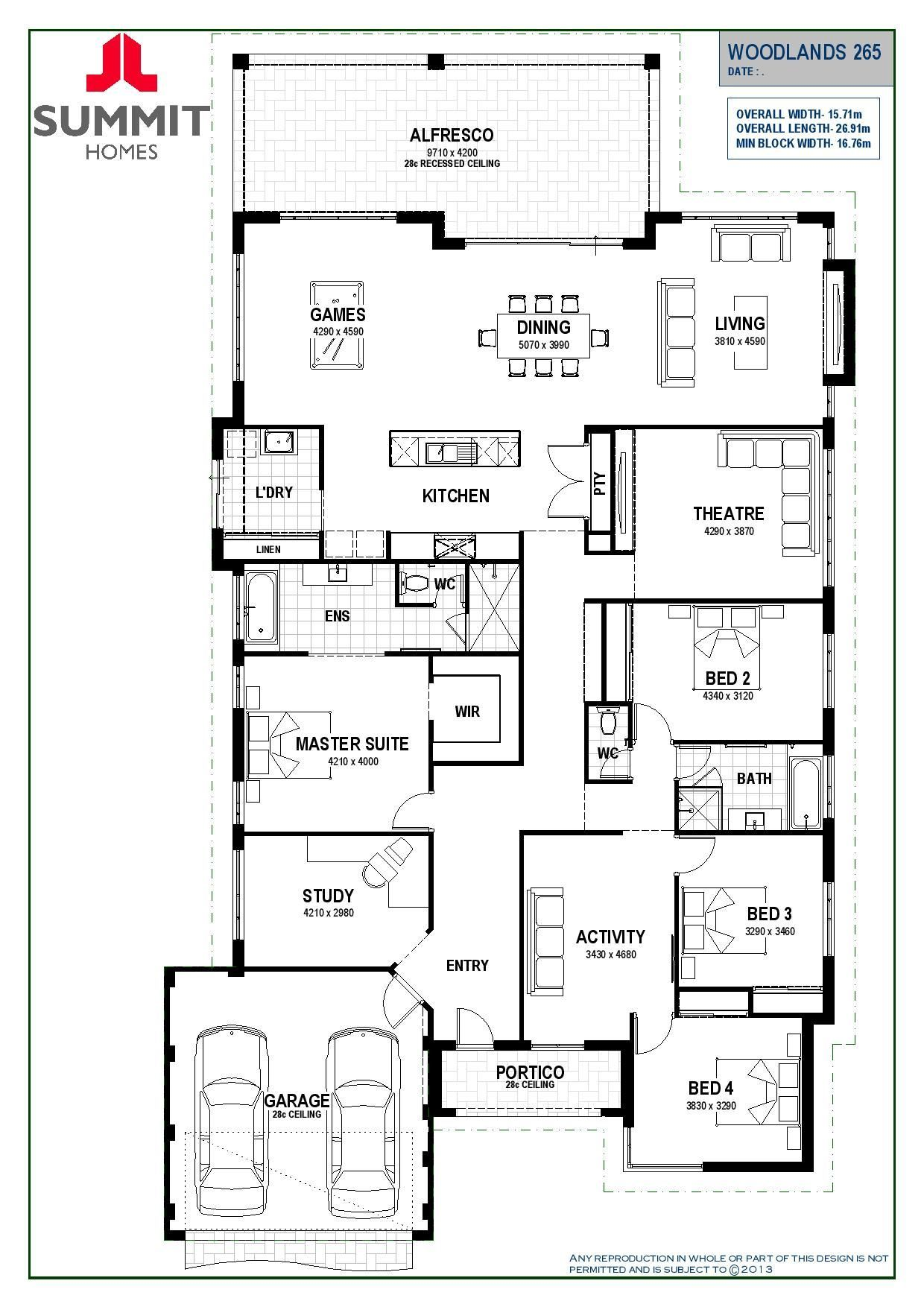 Woodlands 265 By Summit Homes From 249 400 Floorplans Facades Display Homes And More Ibui Summit Homes Home Design Floor Plans Mobile Home Floor Plans