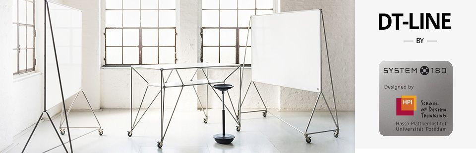 Design Thinking HPI DT-Line Whiteboard und Table System 180 I Design-Deli