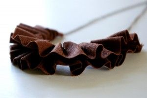 Ruffled necklace from Pretties by Meg on #Etsy