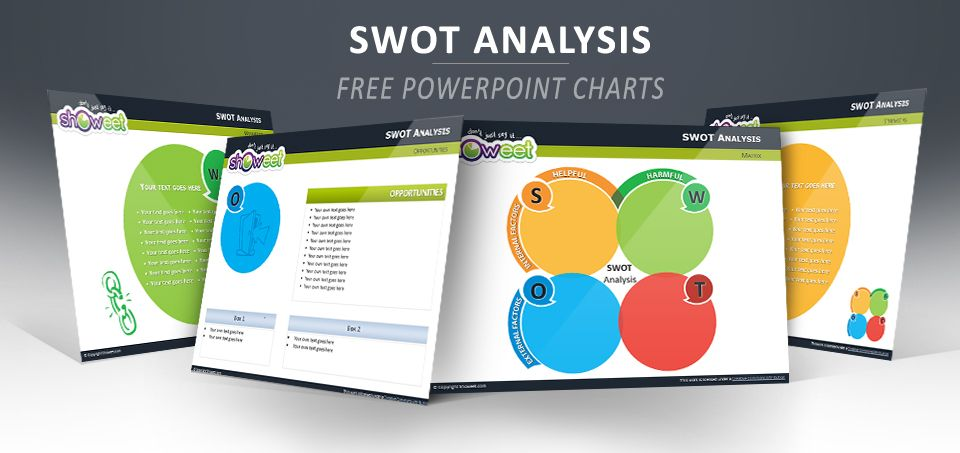 swot analysis - free powerpoint charts | charts & diagrams for, Modern powerpoint