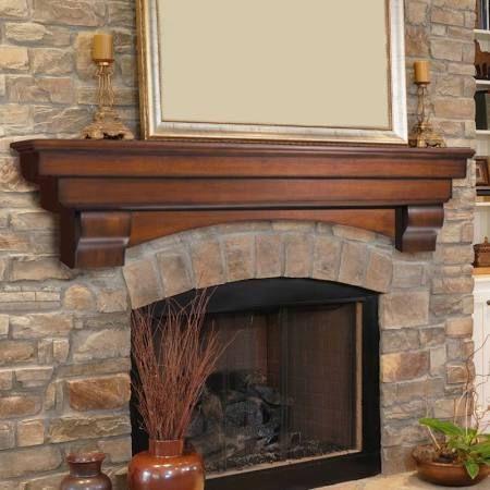 "Pearl Mantels Auburn Fireplace Mantel Shelf Finish: Unfinished, Shelf Length: 60"""
