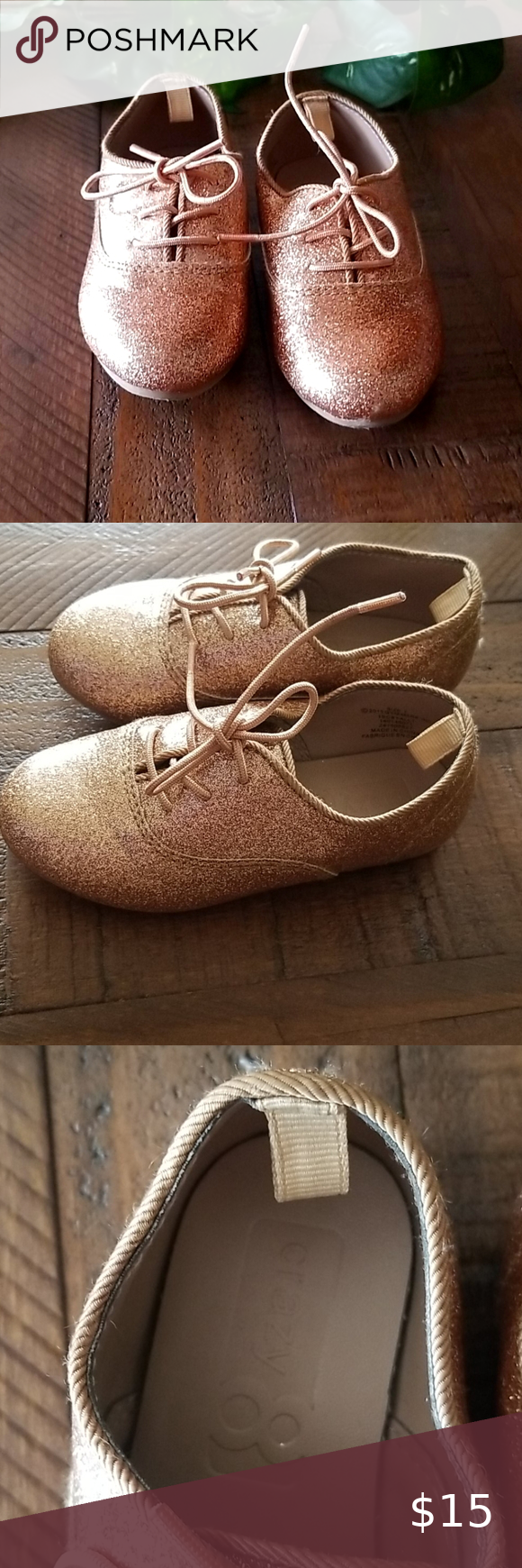 Children's Place Gold Shoes - Sz 7 in