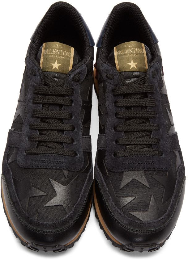 bfed0f57ca5a Valentino - Black Camustars Rockrunner Sneakers