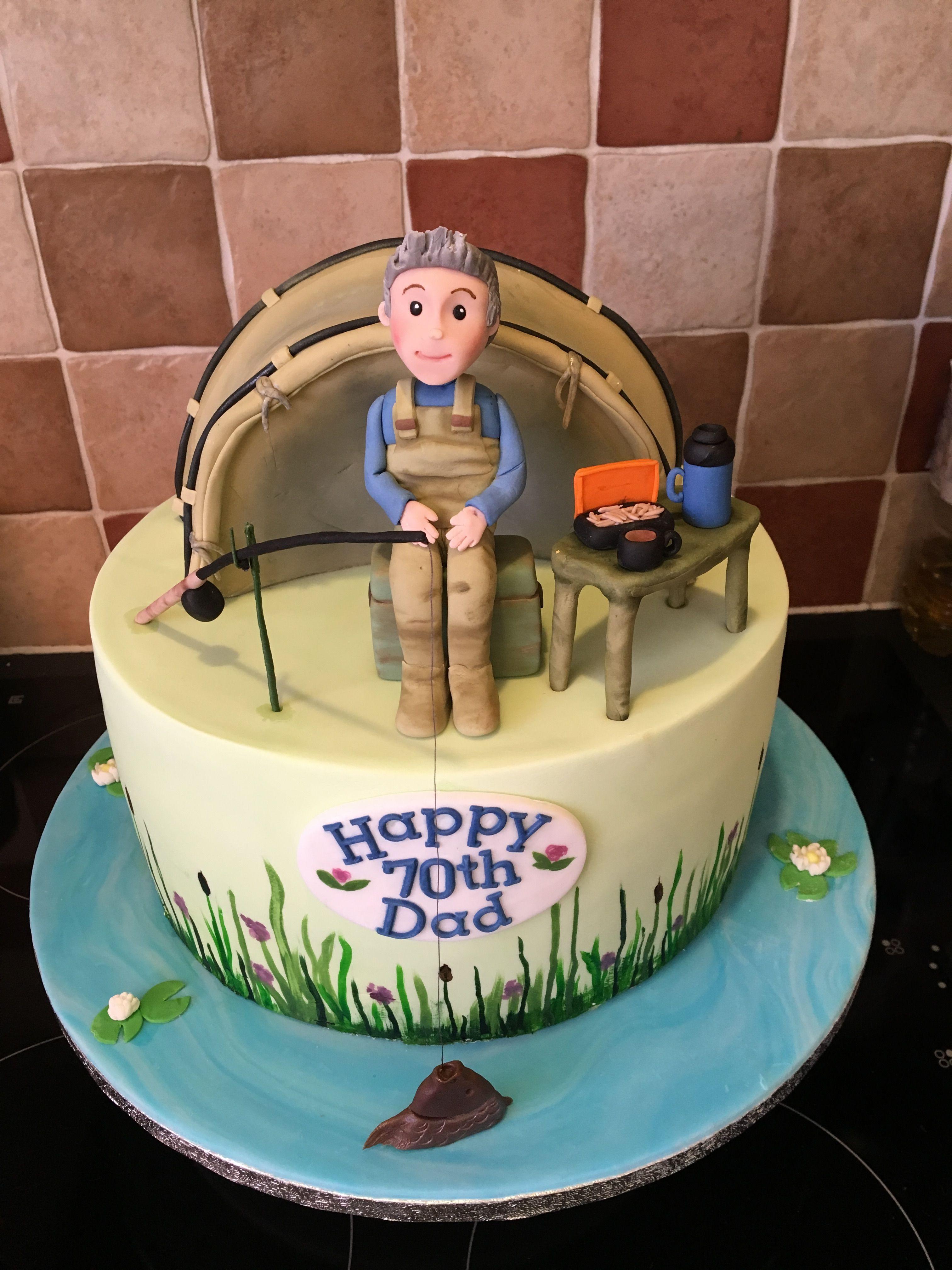 Carp Fishing Cake My Bakes And Cakes Pinterest Fishing Cakes