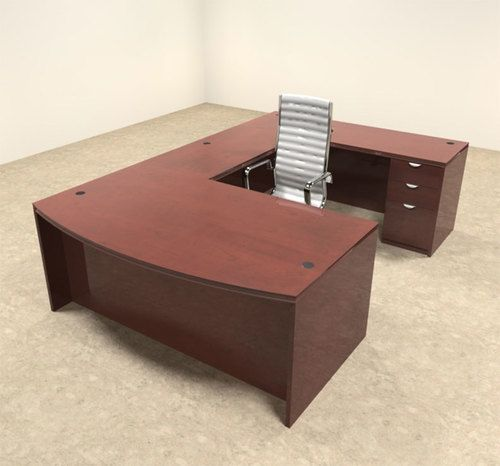 office desk wood simple 4pc wood bow front shaped modern executive office desk set otvetu1 ot