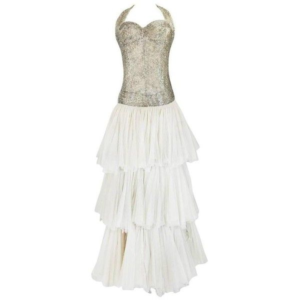 Preowned Divine Late 1920s Hand Beaded & Silk Tulle Princess Gown ...