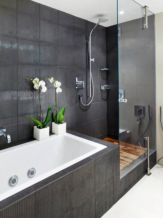 Deep Gray Bathroom So Much Better Than Traditional White House Bathroom Bathroom Design Minimalist Apartment