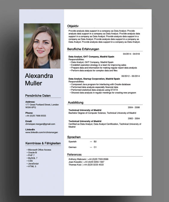 Savings Package cover letter Application template German and English: cover page CV and attachments for Word /& PowerPoint