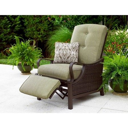 Outdoor Ventura Luxury Recliner Navy Blue Hanover Lounge Chair Outdoor Patio Chairs Outdoor Chairs