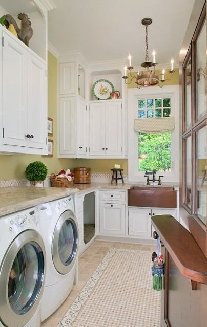 Interior Design Trend Built In Dog Beds Agbeat Stylish Laundry Room Laundry Room Design Vintage Laundry Room Decor