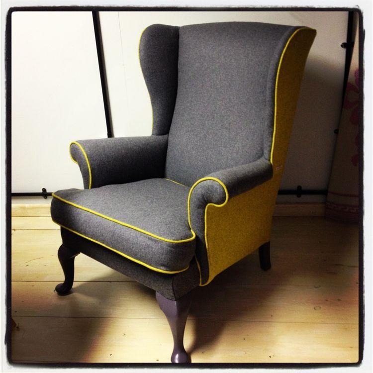 Combinaci n de colores lisos en un sill n orejero - Tapizar sofas en casa ...