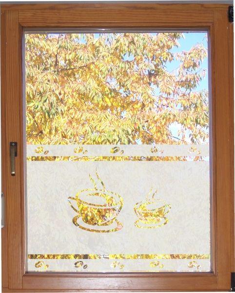 G141 Fensteraufkleber Glasdekor Küche Fensterdeko von Deko ...