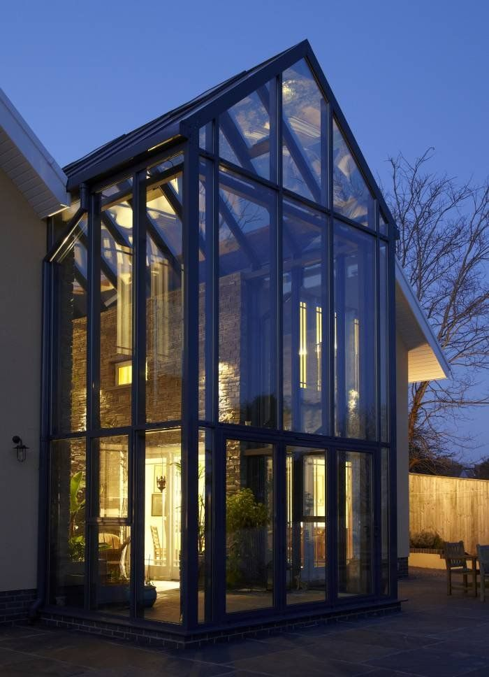 Double Height Glass Structure Atrium Design Glass Roof Glass
