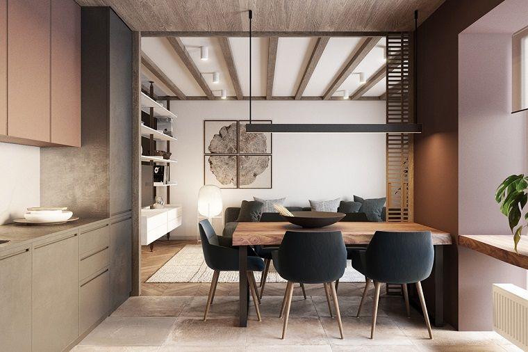 arredamenti-moderni-sala-pranzo-mobili-legno | home | Pinterest ...
