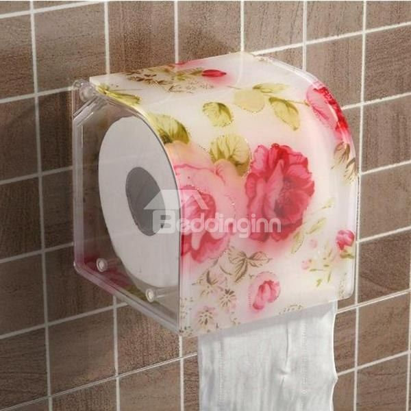Dreamlike Red Peony Acrylic Toilet Paper Holder Toilet Paper Paper Holder Toilet Paper Holder