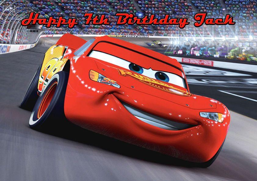 Cars Lightning Mcqueen A4 Icing Sugar Paper Birthday Cake