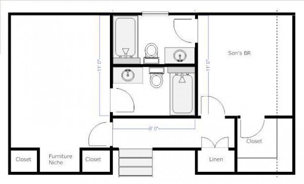 Image Result For Jack And Jill Bathroom Photos Bathroom Floor Plans Jack And Jill Bathroom Bathroom Plans